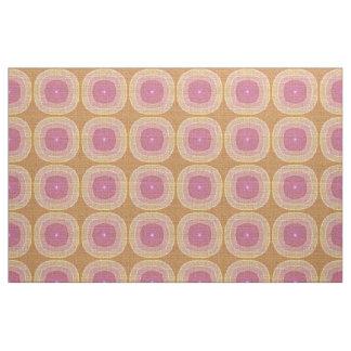 Helles Pastellrosa-gelber Ocker-Bali-Batik-Muster Stoff