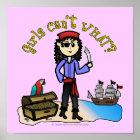 Helles Piraten-Mädchen Poster