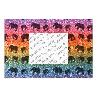 Helles Regenbogenelefant-Glittermuster Kunstphoto