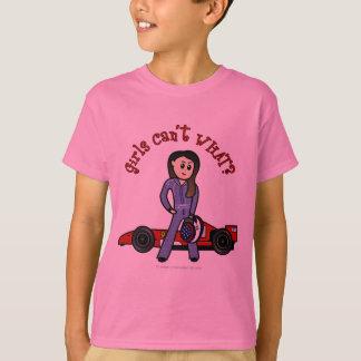 Helles Rennwagen-Fahrer-Mädchen T-Shirt
