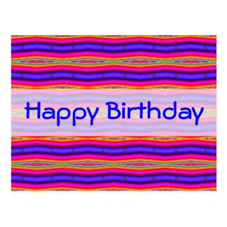 Helles rosa Blau alles Gute zum Geburtstag Postkarte