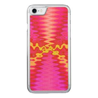 Helles rosa gelbes abstraktes carved iPhone 8/7 hülle