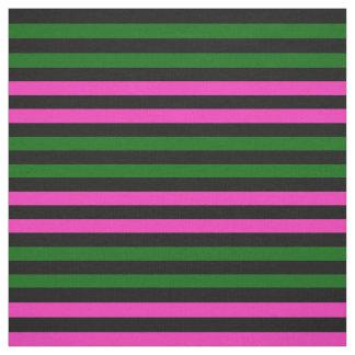 Helles Rosa, Inselgrün, schwarzer Stoff