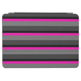 helles rosa Neonschwarzes und Grau neigen striped iPad Air Hülle