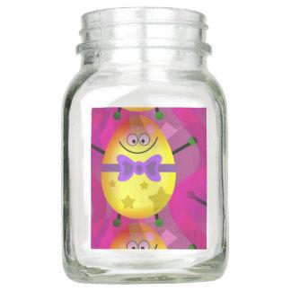 Helles rosa Ostern Einmachglas