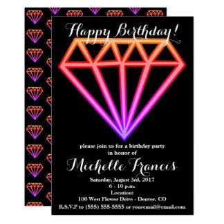 Helles rosa Steigungs-Diamant-Muster Karte
