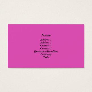 Helles Rosa Visitenkarte