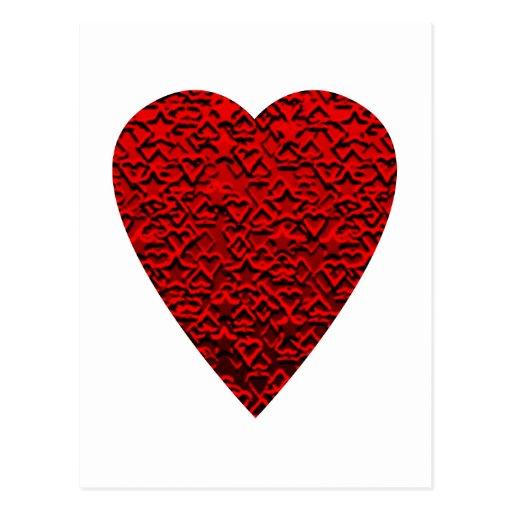 Helles rotes Herz-Bild Postkarte