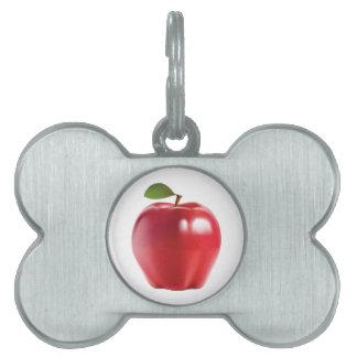 Helles rotes saftiges köstliches Apple Tiermarke