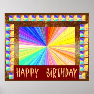 Helles Schein-Spektrum: HappyBirthday Geburtstag Poster