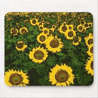 Helles Sommer-Feld der Sonnenblumen Mousepad