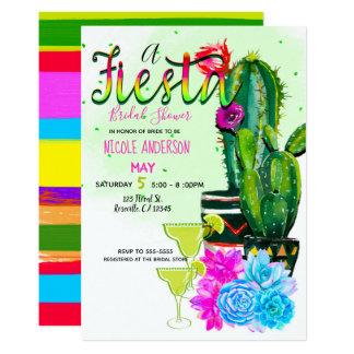 Helles Streifen-Fiestasucculents-Brautparty Karte