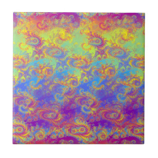 Helles Strudel-Fraktal kopiert den psychedelischen Keramikfliese