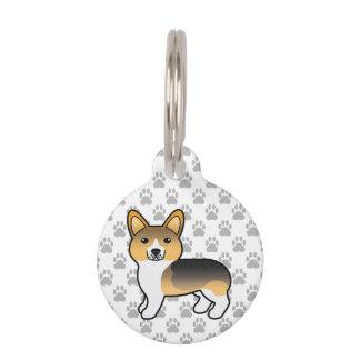 Helles Tricolor Pembroke-Walisercorgi-u. -Hundes Tiernamensmarke