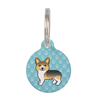 Helles Tricolor Pembroke-Walisercorgi-und -Hundes Tiermarke