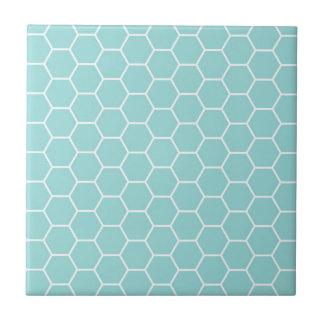 Helles Türkis-Hexagon-Bienenwaben-Muster Keramikfliese