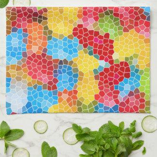 Helles und buntes einzigartiges abstraktes Muster Handtuch