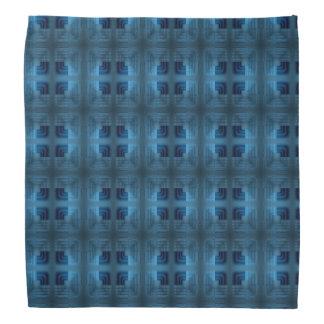 Helles und dunkelblaues quadratisches Retro Muster Kopftuch