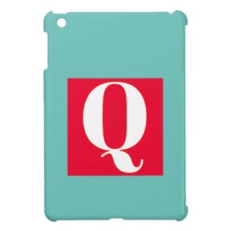 Helles und elegantes Alphabet-Monogramm iPad Mini Hülle