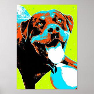 Helles und Spaß Rottweiler Porträt Poster
