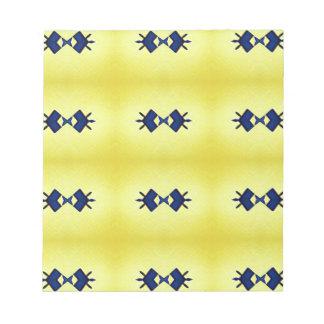 Helles vibrierendes gelbes Marine-Muster Notizblock
