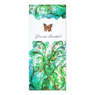 Helles Weiß des blauen Grüns des WUNDERLICHEN 10,2 X 23,5 Cm Einladungskarte