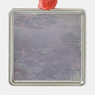 Hellfarbige Wasserlilien Claudes Monet | Silbernes Ornament