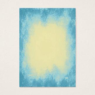 Hellgelb mit abstrakter Beschaffenheit der blauen Visitenkarte
