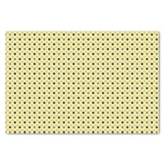 Hellgelb mit Schwarzem, Grau und GoldTupfen Seidenpapier