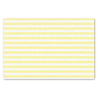 Hellgelb und Weiß Stripes Seidenpapier