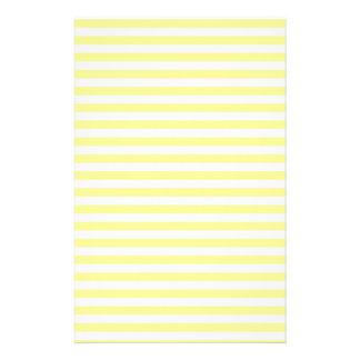 Hellgelbe und weiße Streifen Briefpapier