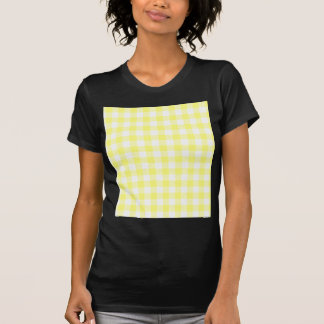 Hellgelber Gingham T-Shirt