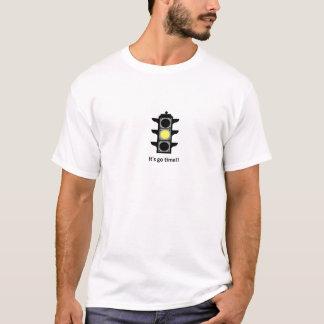 hellgelber lustiger Shirthut des Verkehrs T-Shirt
