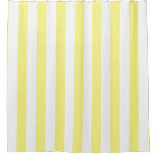 Hellgelber weißer vertikaler Streifen NL #1 Duschvorhang