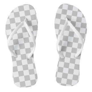 Hellgraues Schachbrett Flip Flops