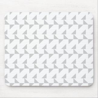 Hellgraues und weißes geometrisches abstraktes Mus Mauspad