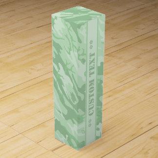 Hellgrüne Camouflage mit kundenspezifischem Text Weinbox