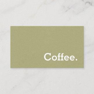 Hellgrüne Flanell-Loyalitäts-Kaffee-Lochkarte Treuekarte