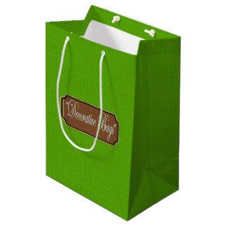 Hellgrüne mittlere Geschenk-Tasche Mittlere Geschenktüte
