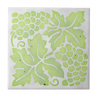 Hellgrüne Trauben Keramikfliese