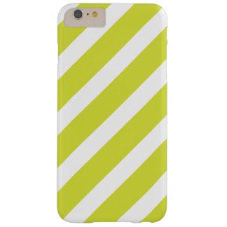 Hellgrüne und weiße Streifen Barely There iPhone 6 Plus Hülle