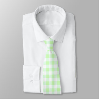hellgrüner Gingham-Karo Krawatte