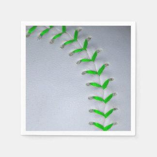 Hellgrüner Stich-Baseball/Softball Papierserviette