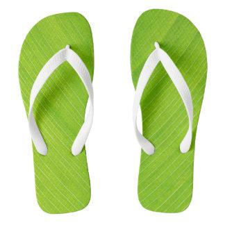 hellgrünes frisches Blatt Flip Flops