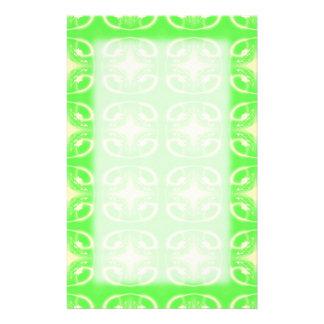 Hellgrünes futuristisches Muster Personalisiertes Büropapier