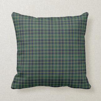 Hellgrünes und Marine-Clan-Taylor-schottisches Kissen