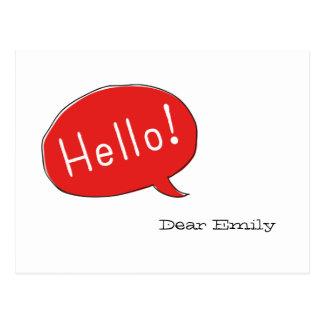 Hello! Dear ... Postkarte