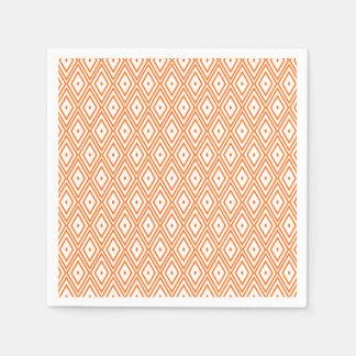 Hellorangee und weiße Diamant-Entwurfs-Servietten Papierservietten