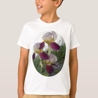 Hellpurpurn mit rosa Iris T-Shirt