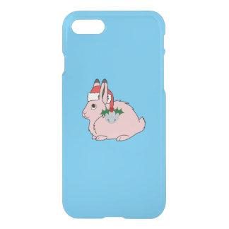 Hellrosa arktische Hasen - Weihnachtsmannmütze u. iPhone 8/7 Hülle